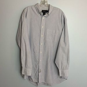 ❌ABERCROMBIE & FITCH L/S STRIPED SHIRT 15.5R❌